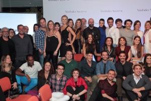 Elenco na coletiva da novela Verdades Secretas (Foto: Marcello Sá Barretto / AgNews)