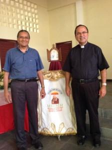 Padre Adauto e o Monsenhor José Nicodemos (Foto: ManchetePB)
