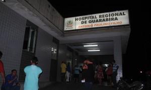 Vítima foi levada para o Hospital Regional