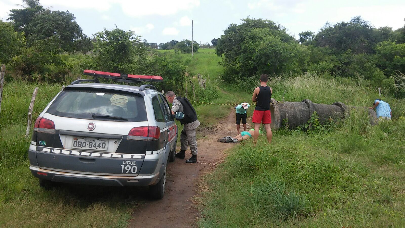 Corpo do mototaxista foi encontrado na zona rural de Lagoa de Dentro (Foto: Reprodução/WhatsApp)