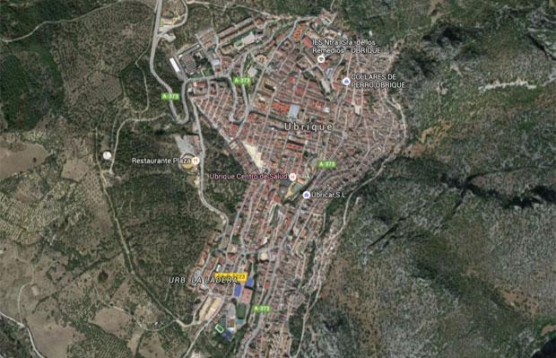Caso ocorreu em Ubrique, na província de Cádiz (Foto: Reprodução/Google Maps)