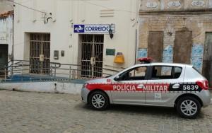 Agência dos Correios assaltada em Juarez Távora, a Paraíba (Foto: Altair Silva)