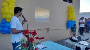 Fabiano Lopes durante apresentação da página (Foto: Fábio Ferreira)