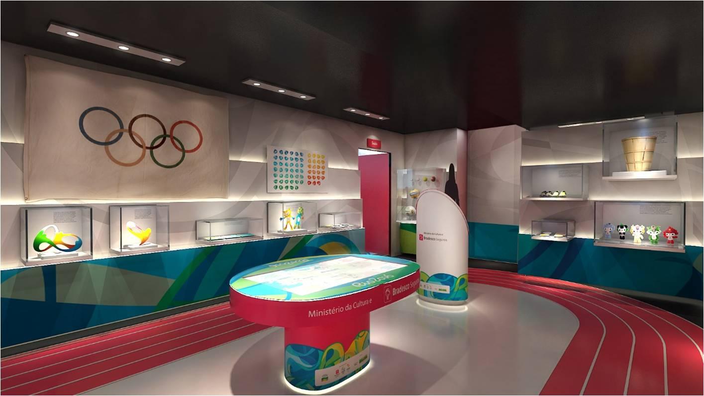 Museu Intinerante das Olimpíadas chegou a João Pessoa nesta quinta-feira (Foto: Divulgação)