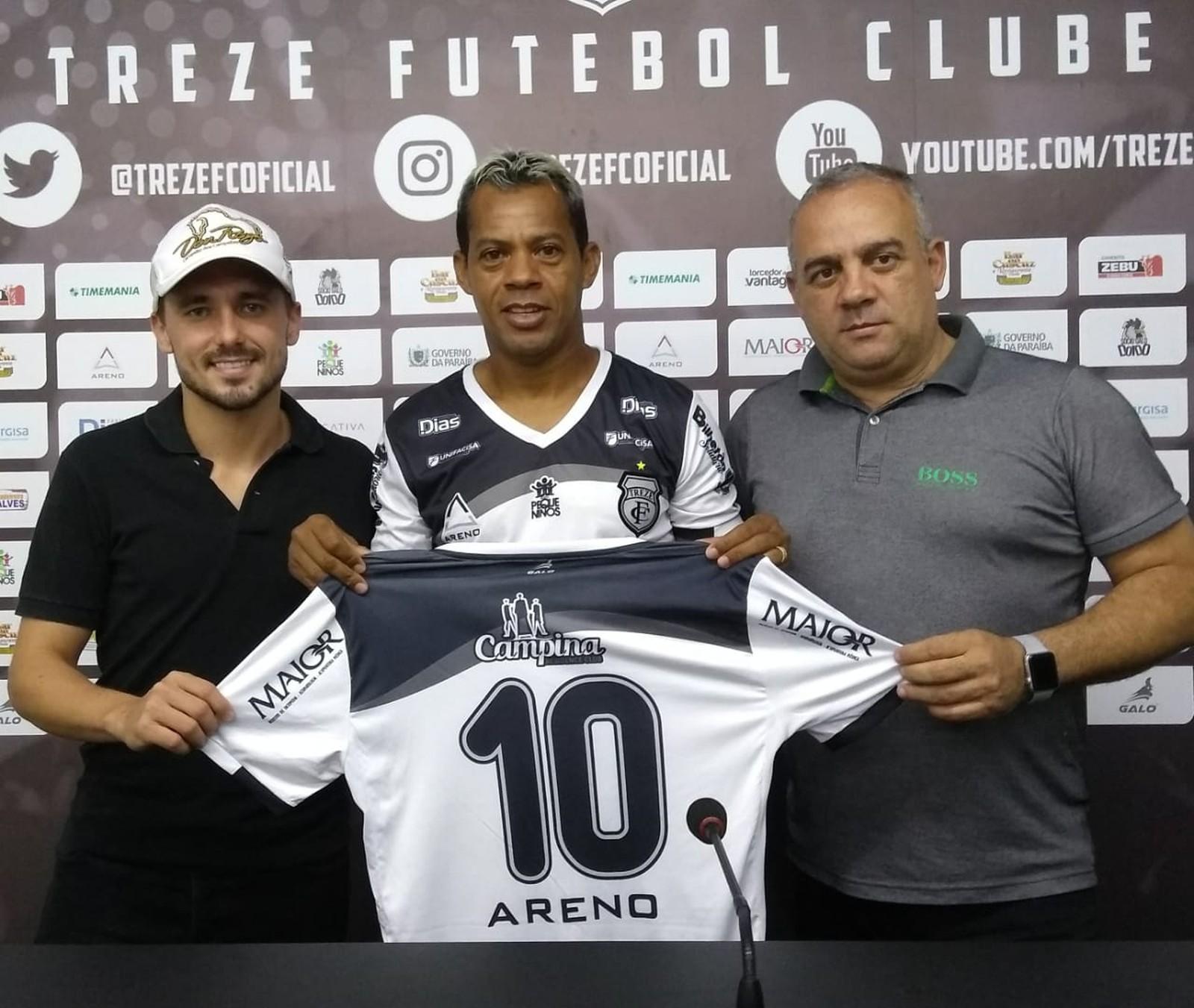 Marcelinho Paraíba voltou ao Treze — Foto: Ramon Smith / Treze