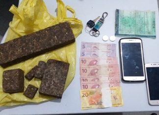 Material apreendido durante a operação policial (Foto: Assessoria PMPB)