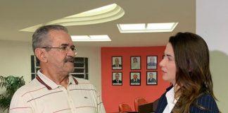 Valberto Lira, presidente da Comissão Permanente de Prevenção e Combate à Violência nos Estádios da Paraíba e a Presidente da FPF, Michelle Ramalho (Foto: Lucas Barros / GloboEsporte.com)