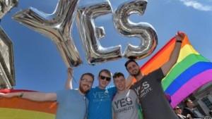 População comemorou no centro de Dublin a vitória do 'sim'; homossexualidade era crime no país até 1993