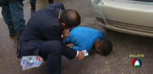 Repórter tenta entrevistar assaltante morto