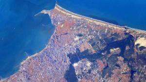 Costa de Fortaleza vista do espaço (Foto: Nasa)