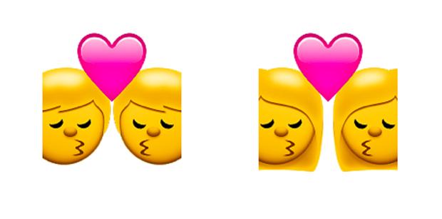 Emojis que representam relacionamentos gays foram lançados na versão 8.3 do sistema operacional iOS (Foto: Divulgação)
