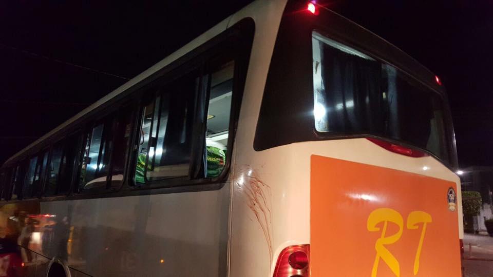 Ônibus seguia de João Pessoa para Guarabira (Foto: Reprodução/Facebook)