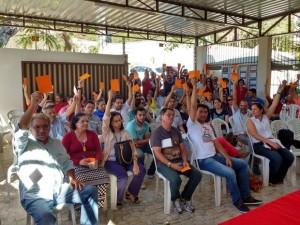 Professores da UEPB realizaram assembleia nesta quinta-feira (19) (Foto: Gustavo Xavier)