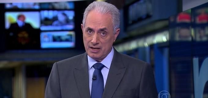 William Waack no Jornal da Globo da última quarta (11): telejornal terá formato mais analítico