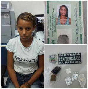 Jovem é presa com drogas em Guarabira
