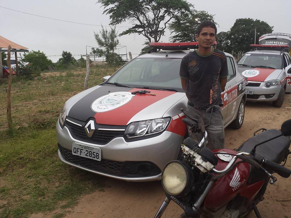 Márcio foi preso durante operação policial em Solânea (Foto: Divulgação/PM)