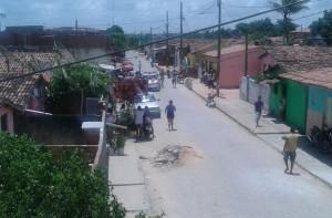 Crime aconteceu na rua Joaquim Florentino de Medeiros, em Bananeiras (Foto: Reprodução/WhatsApp)