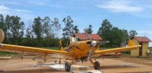 Hélice de avião bateu na cabeça de engenheiro de 33 anos (Foto: Luciano Costa/ Polícia Civil-MT)