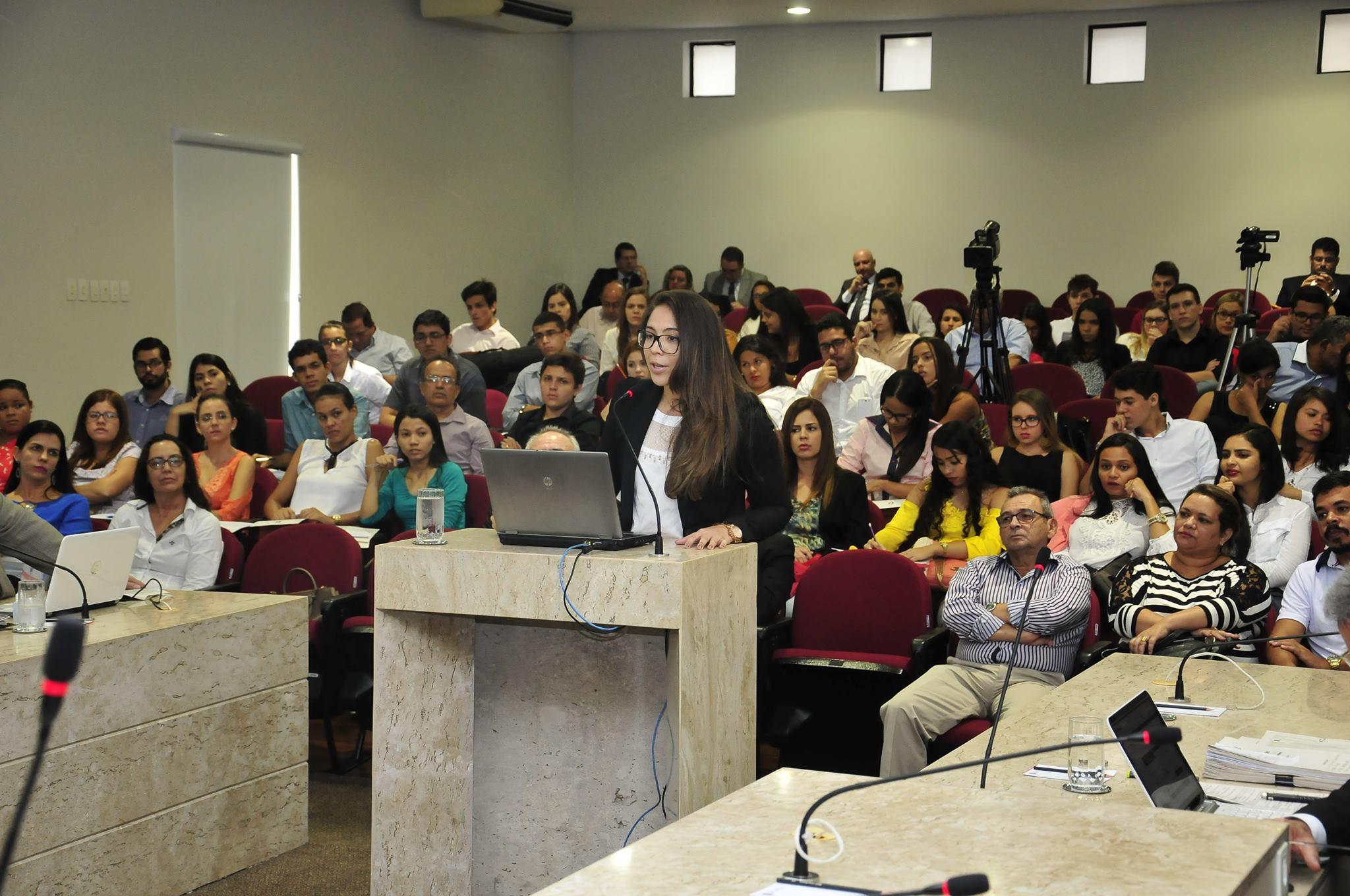 Relatório apresentado pelo relator foi exemplo de aula para universitários do curso de direito de uma faculdade privada de João Pessoa