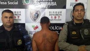 Ex-presidiário foi preso horas depois do crime (Foto: Divulgação/PMPB)