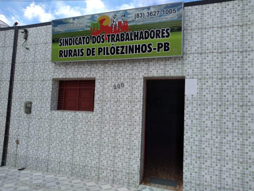 Sede do Sindicato dos Trabalhadores Rurais da cidade de Pilõezinhos - Foto: reprodução/ Repórter Pedro Júnior - PATRULHANDONASRUAS)