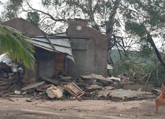 Edifícios danificados depois da passagem do ciclone Kenneth na região da província de Cabo Delgado (Foto: Unicef via Reuters)