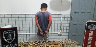 Homem violava túmulos do cemitério de Belém e furtava objetos (Foto: Divulgação/4º BPM)