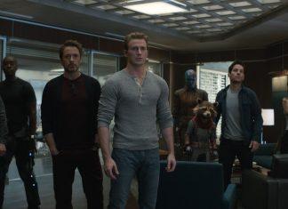 Jeremy Renner, Don Cheadle, Robert Downey Jr., Chris Evans, Karen Gillan, Rocket (voz de Bradley Cooper), Paul Rudd e Scarlett Johansson em cena de 'Vingadores: Ultimato' (Foto: Divulgação/Marvel)
