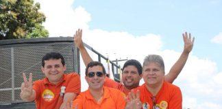 Célio Alves, Gervásio Maia, Renato e Beto Meireles em evento político (Foto: Divulgação)