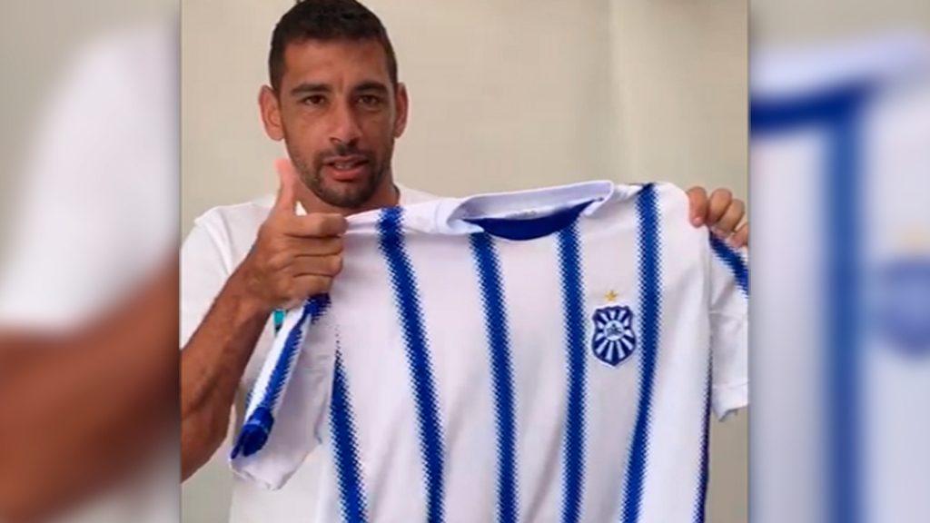 Camisa foi enviada por um guarabirense ao jogador (Foto: Reprodução/Divulgação)