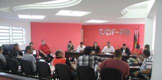 Reunião para discutir a 2ª divisão do Paraibano aconteceu na sede da FPF (Foto: Raniery Soares / CBN)